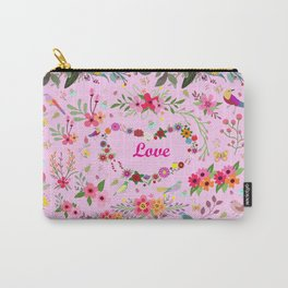 Say I love you with flowers Carry-All Pouch