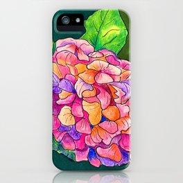 Rainbow Hydrangea iPhone Case