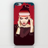 grimes iPhone & iPod Skins featuring Grimes by Arielle Herman