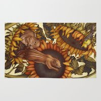 autumn Area & Throw Rugs featuring Autumn by Kate O'Hara Illustration