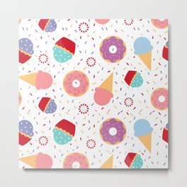 Donuts party Metal Print