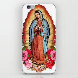 Our Lady of Guadalupe with roses iPhone Skin