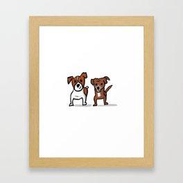 Jack Russel terriers Framed Art Print