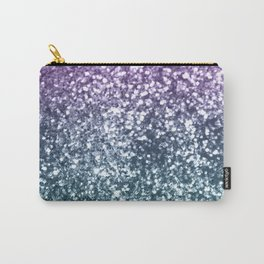 Aqua Purple Ombre Glitter #4 #decor #art #society6 Carry-All Pouch