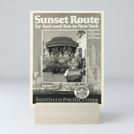 Sunset Route oude poster Mini Art Print