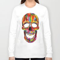 terminator Long Sleeve T-shirts featuring Chromatic Skull by John Filipe