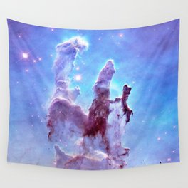 nEBulA Pastel Blue & Lavender Wall Tapestry