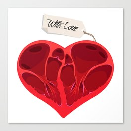 Valentines anatomy heart Canvas Print