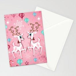 Cute Christmas Reindeer Stationery Cards