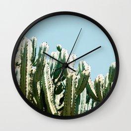 Tall cacti | Cactus photo print | Colourful travel wanderlust photography art Wall Clock