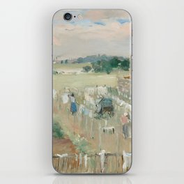 Hanging the Laundry out to Dry by Berthe Morisot iPhone Skin