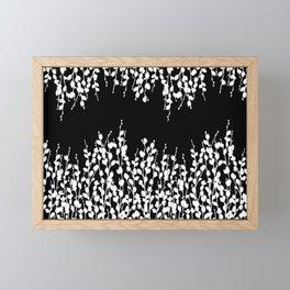 Pussywillow Design | Black • White Framed Mini Art Print