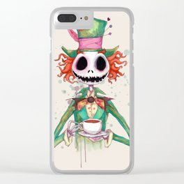 Jack Hatter Clear iPhone Case
