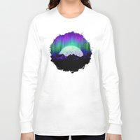 northern lights Long Sleeve T-shirts featuring Under the Northern Lights by Noonday Design