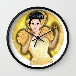 Golden BenDeLaCreme Wall Clock