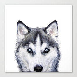 Siberian Husky original painting by Miart Canvas Print