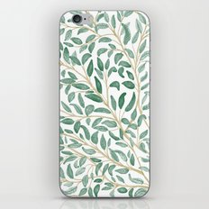 Green Leaf Pattern iPhone & iPod Skin