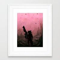 rocket Framed Art Prints featuring Rocket by Varsha Vijayan
