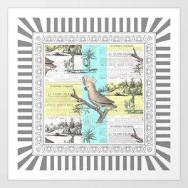 Tropical Dream Cockatoo Art Print