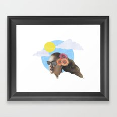 Head Collage Framed Art Print