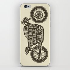 Two wheels move the soul iPhone & iPod Skin
