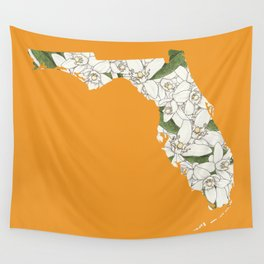 Florida in Flowers Wall Tapestry