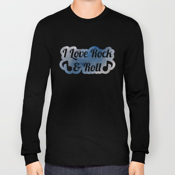 Silver music Long Sleeve T-shirt