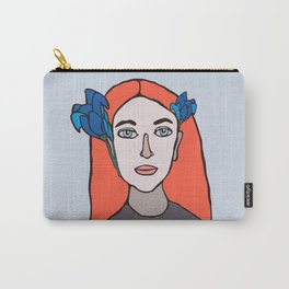 PORTRAIT OF AN IRISH GIRL WITH IRISES  Carry-All Pouch