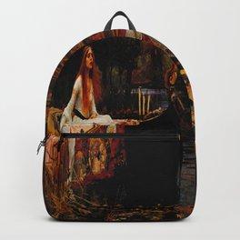 John William Waterhouse (English, 1849 - 1917) - The Lady of Shalott - Date: 1888 - Style: Romanticism (Pre-Raphaelites) - Media: Oil - Digitally Enhanced Version (1000 dpi) Backpack