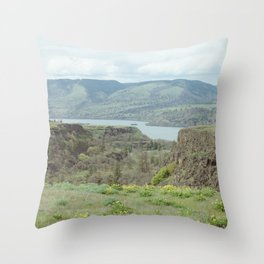 Tom McCall Preserve Looking Out at The Columbia River Gorge Throw Pillow