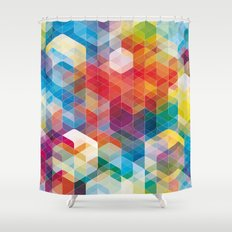 Cuben Curved #5 Shower Curtain