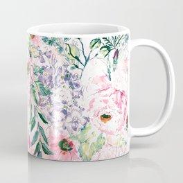 Boho chic watercolor pink floral hand paint Coffee Mug