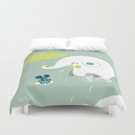 Rainy Elephant Duvet Cover