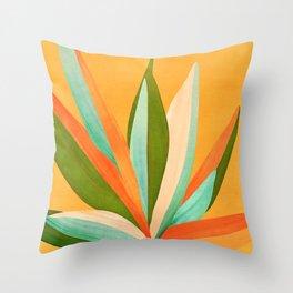 Summer Cactus Throw Pillow
