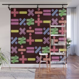 Seamless Colorful Abstract Mathematical Symbols Pattern II Wall Mural