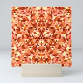 Hot triangle mandala Mini Art Print