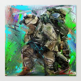 Army Soldier  Canvas Print