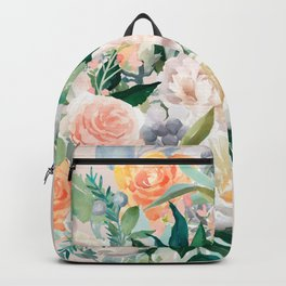 Pastel bouquet with roses Backpack
