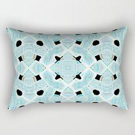 Neon Tile Pattern Rectangular Pillow