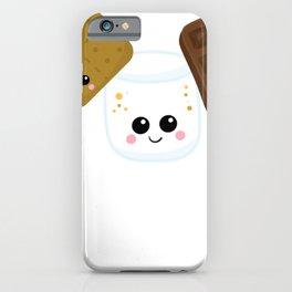 Kawaii Graham Cracker Kawaii Marshmallow Kawaii Chocolate Kawaii Smores iPhone Case