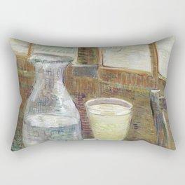 1887-Vincent van Gogh-Café table with absinth-33x46 Rectangular Pillow