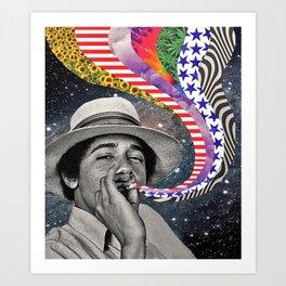 Vintage Barry O Art Print