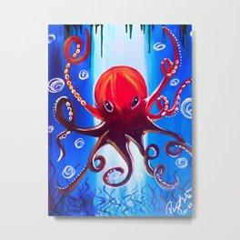 Dancing Octopus Metal Print
