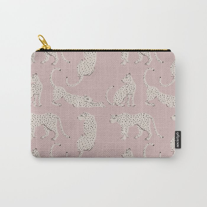LEOPARD BLOCK PARTY - PINK Carry-All Pouch
