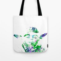 yoda Tote Bags featuring Yoda by NKlein Design