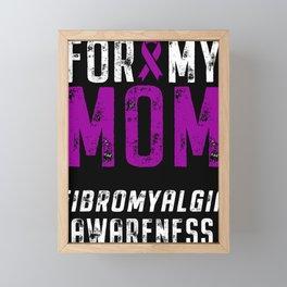 Fibromyalgia Awareness Mom Ribbon Framed Mini Art Print