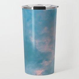 Pink in blue Travel Mug