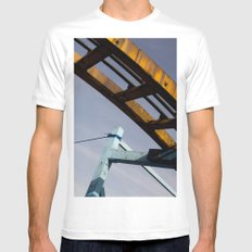 roller Mens Fitted Tee White MEDIUM