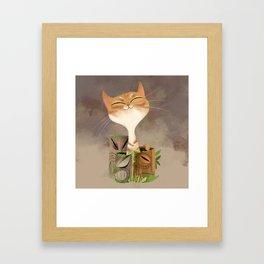 Tiki Kitty Framed Art Print