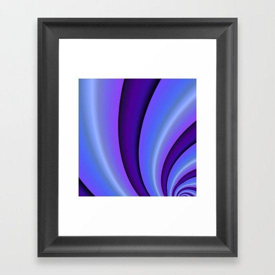 Purple Twist Framed Art Print